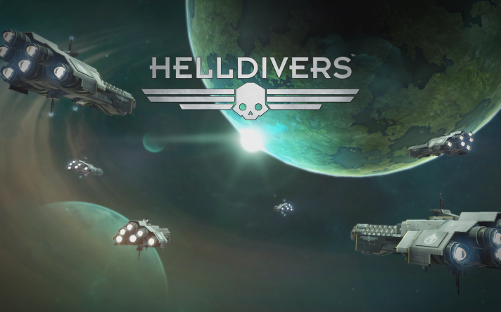 PS4 HELLDIVERS Title screen Forest
