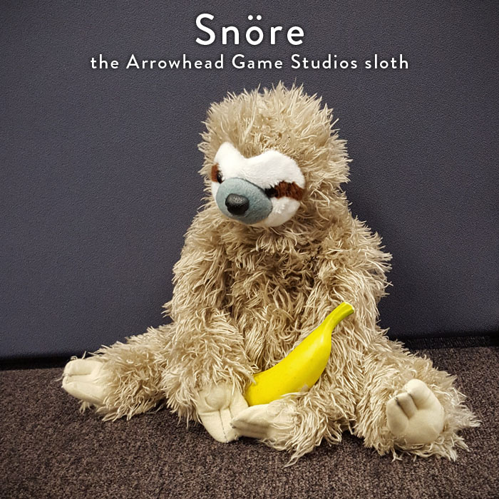 Snöre means string or cord in Swedish, a fitting name if you take a closer look at the fur! (and the little pieces the sloth leaves behind everywhere. If you have no clue how to pronounce it, Snore makes for quite a suitable sloth name as well.